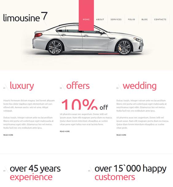 limousine minimal joomla templates
