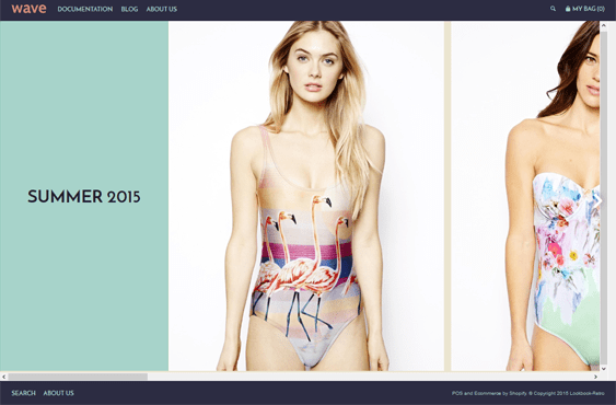 lookbook retro swimwear lingerie shopify themes