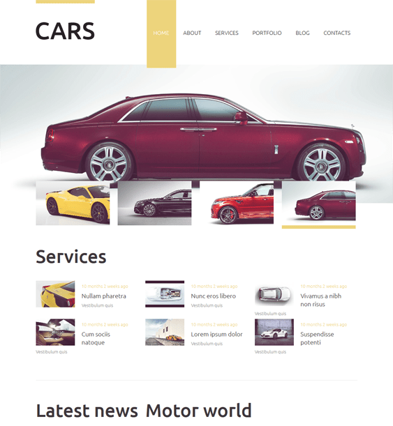 vehicles clean drupal themes