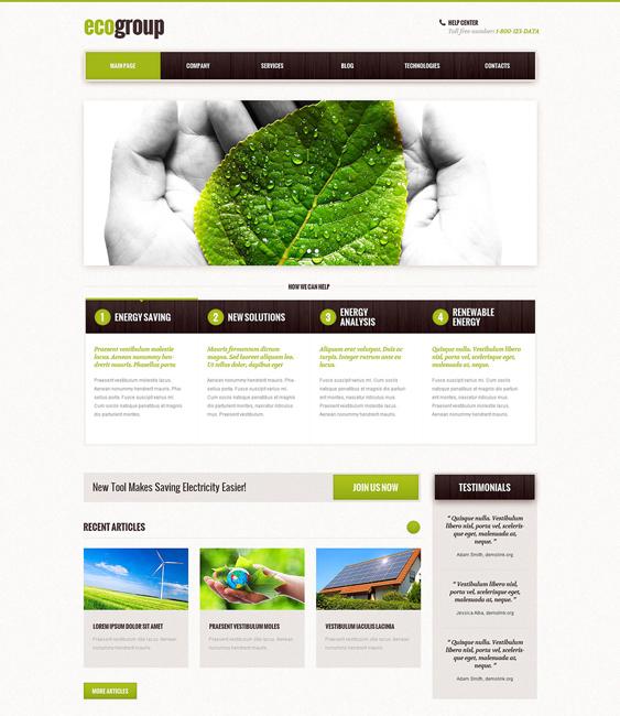 alternative power organic eco-friendly wordpress themes