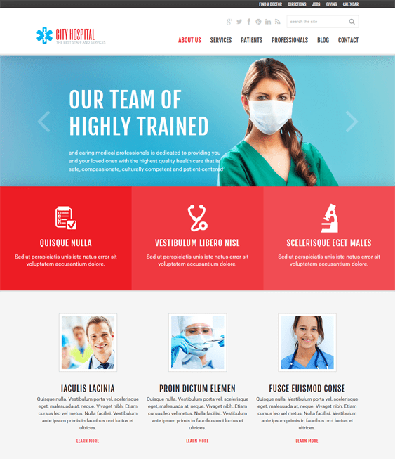 ambulance medical joomla templates