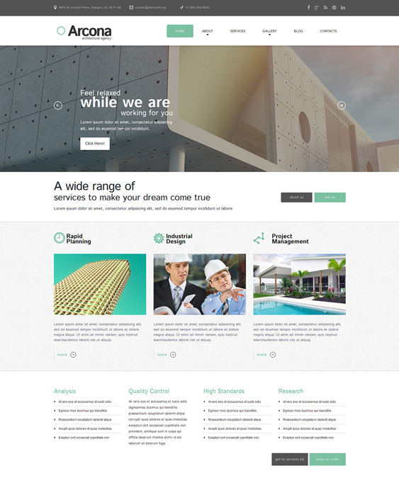 architecture architect wordpress themes
