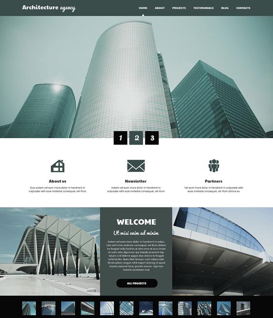 architecture business architect wordpress themes