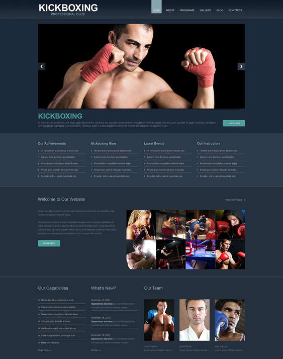 boxing dark wordpress themes
