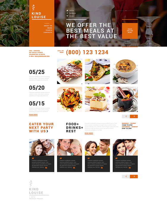 cafe house restaurant bakeries bars joomla templates