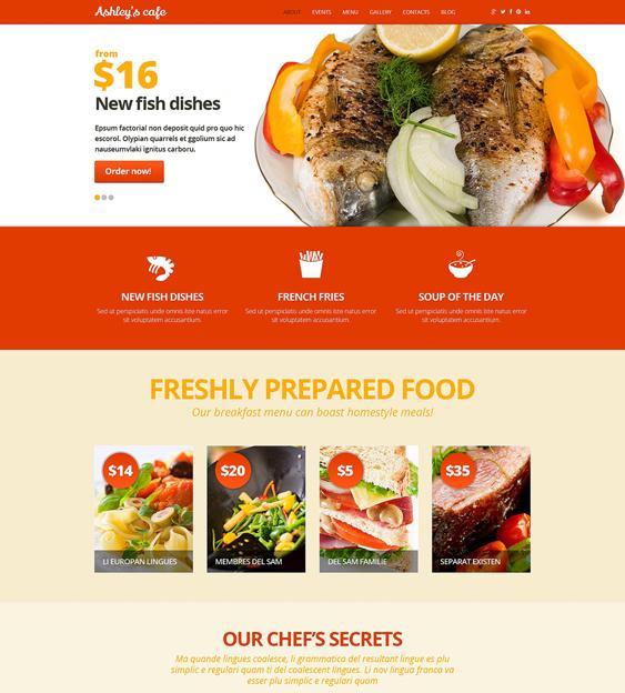 cafeteria restaurant bakeries bars joomla templates