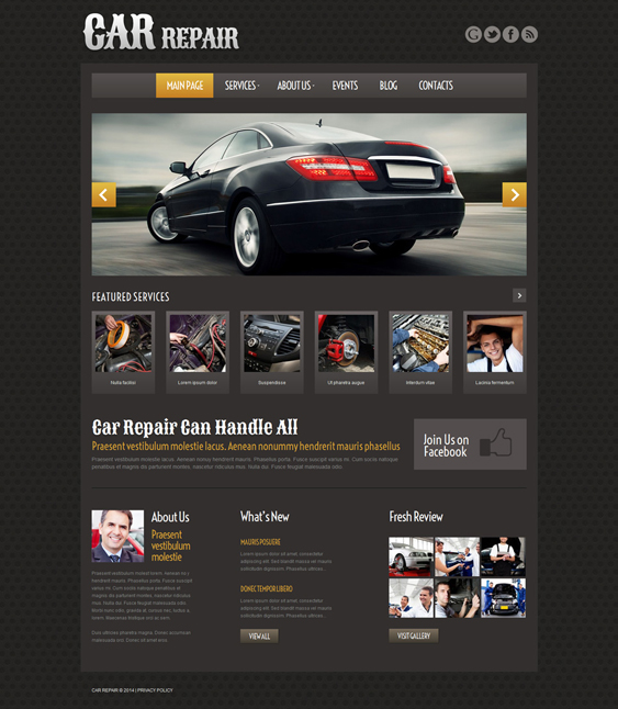 car dark wordpress themes