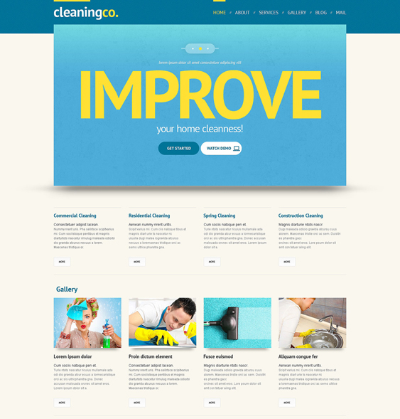 cleaning wordpress themes responsive
