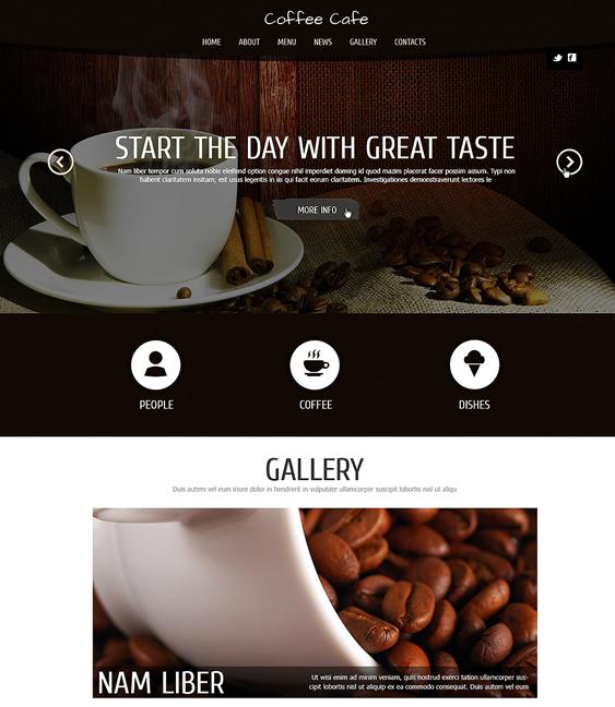 coffee restaurant bakeries bars joomla templates
