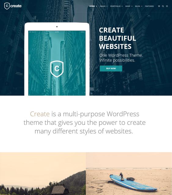 create portfolio wordpress themes
