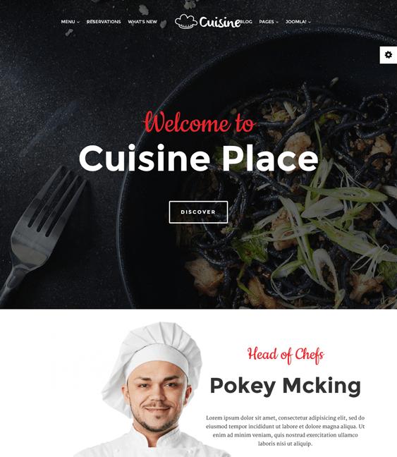 cuisine restaurant bakeries bars joomla templates