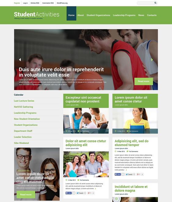 education wordpress themes responsive