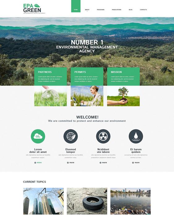 environmental organic eco-friendly wordpress themes