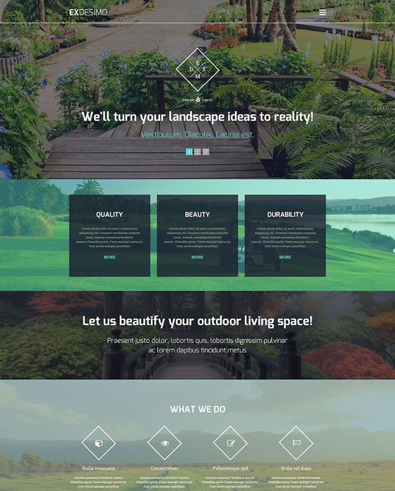 exdesimo gardener landscaping wordpress themes