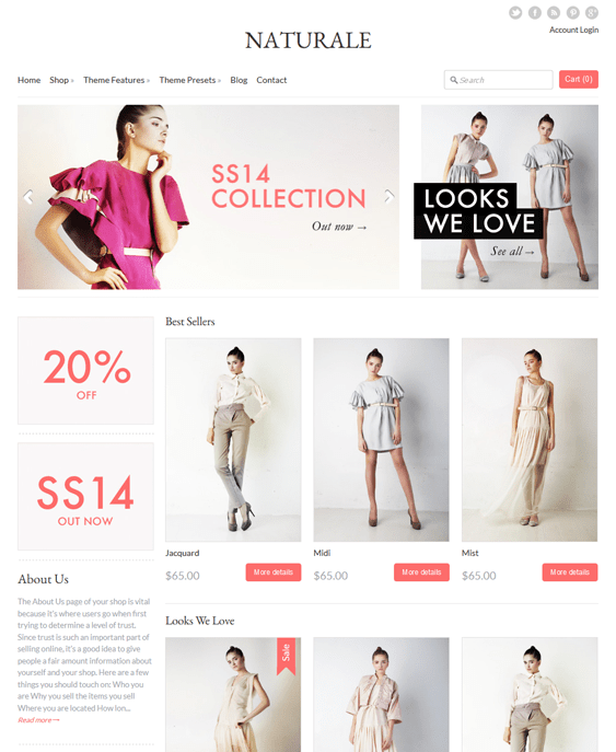 expression natural shopify themes clothing stores