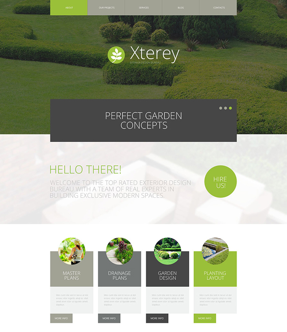 exterior design gardener landscaping wordpress themes
