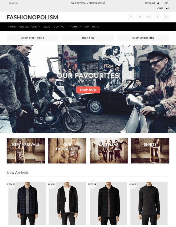fashionopolism empire shopify themes clothing stores