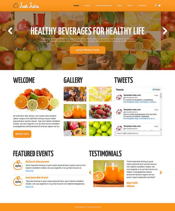 food drink restaurant bakeries bars joomla templates