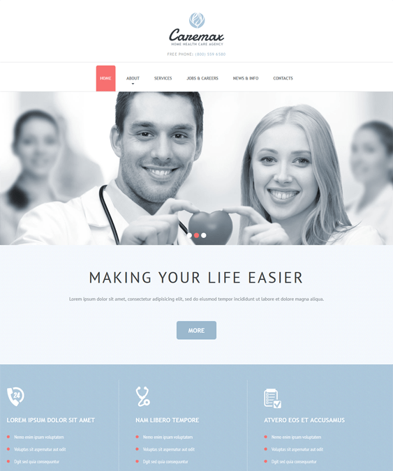home health medical joomla templates
