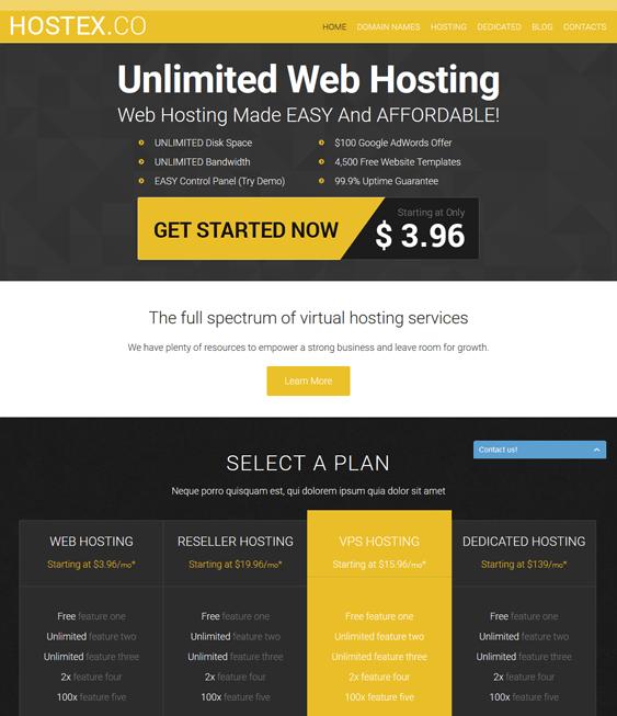 hosting web hosting joomla templates