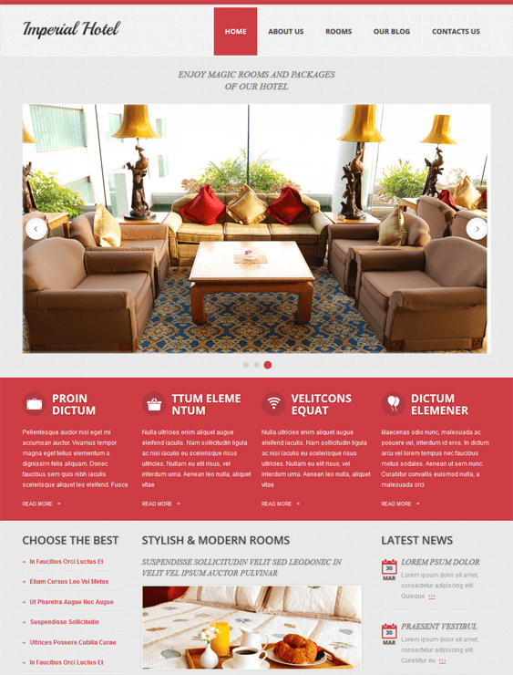 imperial hotel drupal themes