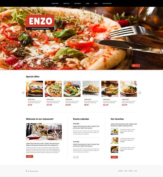 italian restaurant joomla templates
