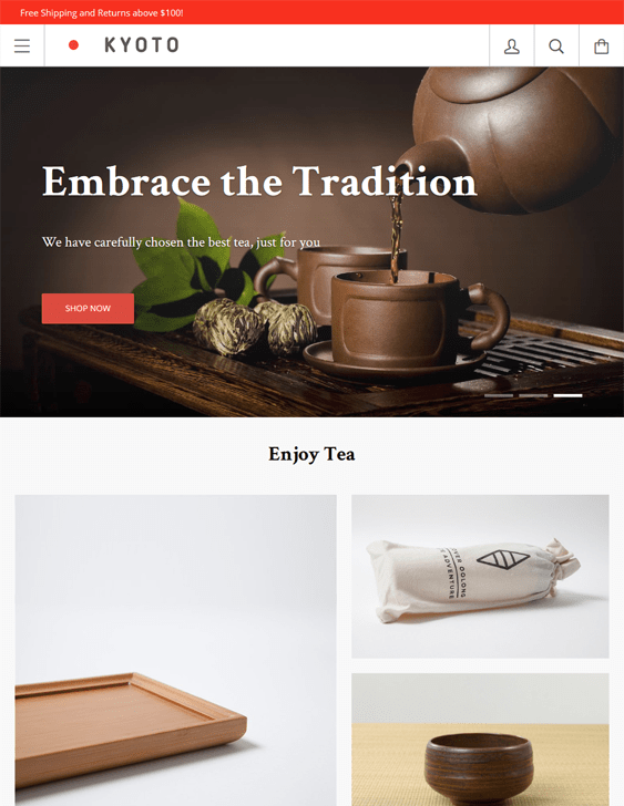 kagami kyoto tea coffee stores shopify themes