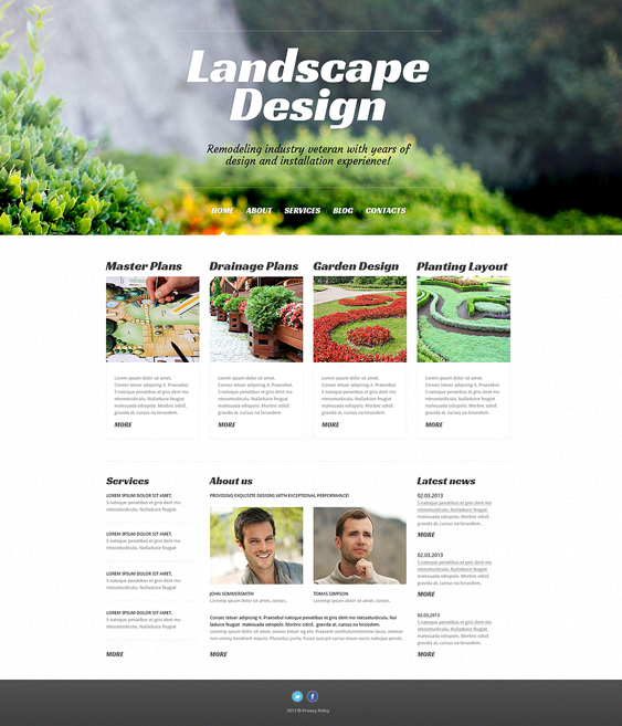 landscape design alive gardener landscaping wordpress themes