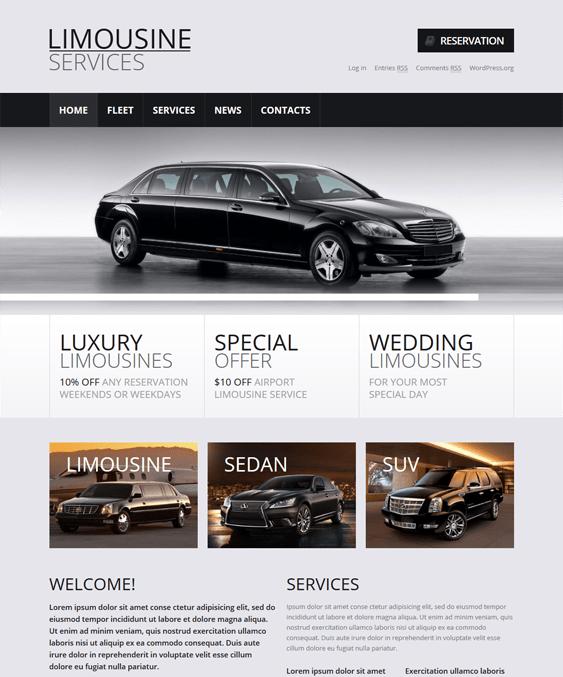 limousine transportation wordpress themes