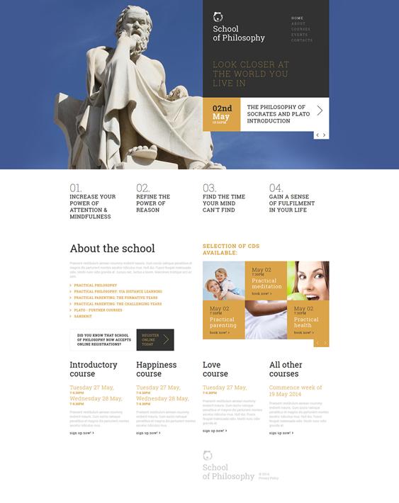 love of wisdom education joomla templates