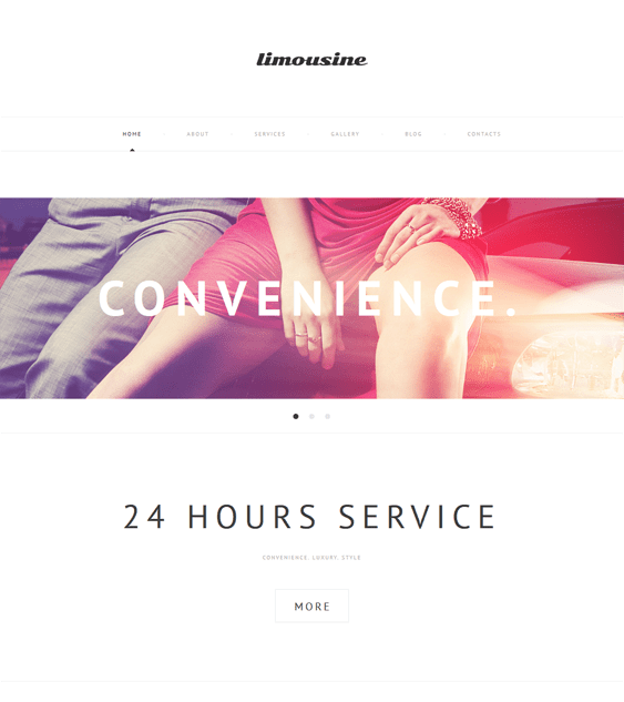 luxury transportation wordpress themes