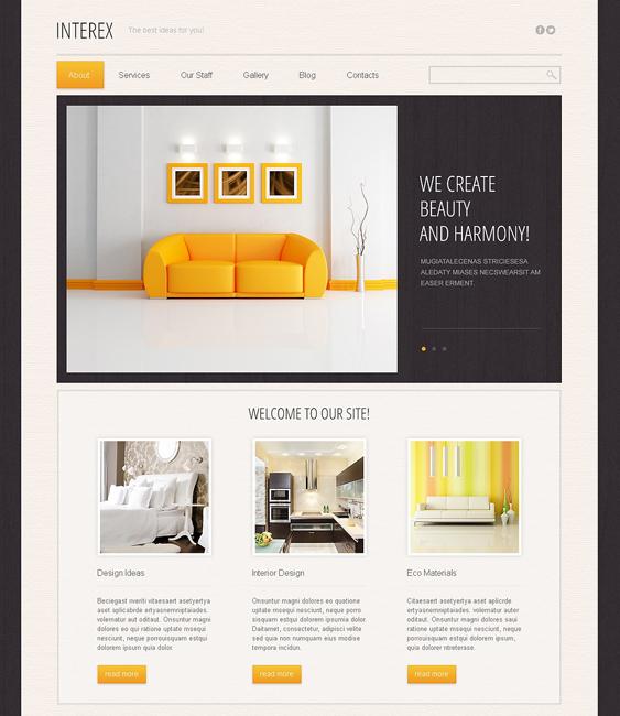 minimalist interior design drupal themes