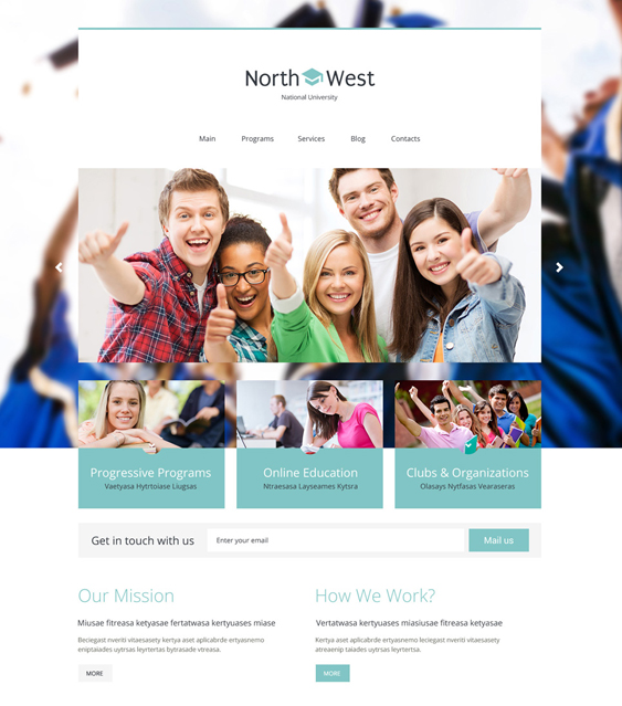 northwest university college wordpress themes