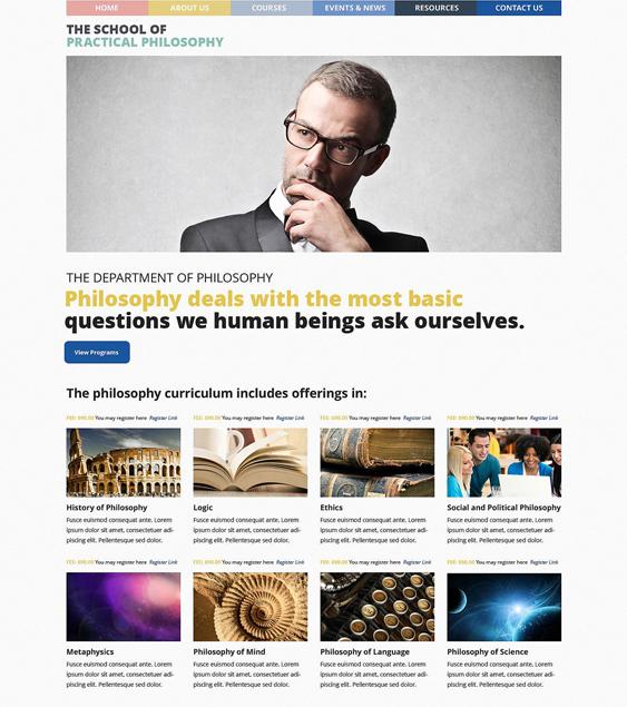 philosophy education wordpress themes