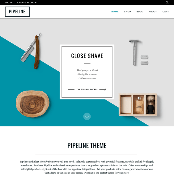 pipeline minimal shopify themes