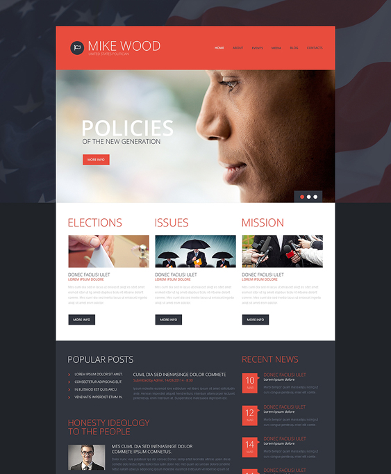 politics board political wordpress theme