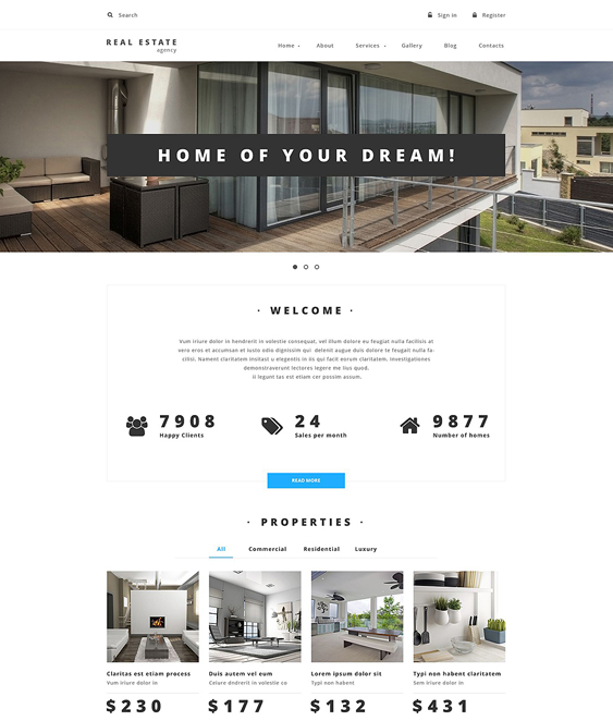 property clean drupal themes