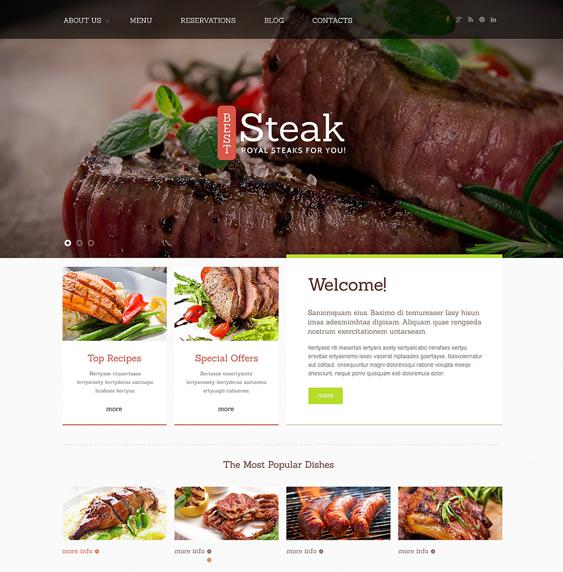 steakhouse restaurant bakeries bars joomla templates