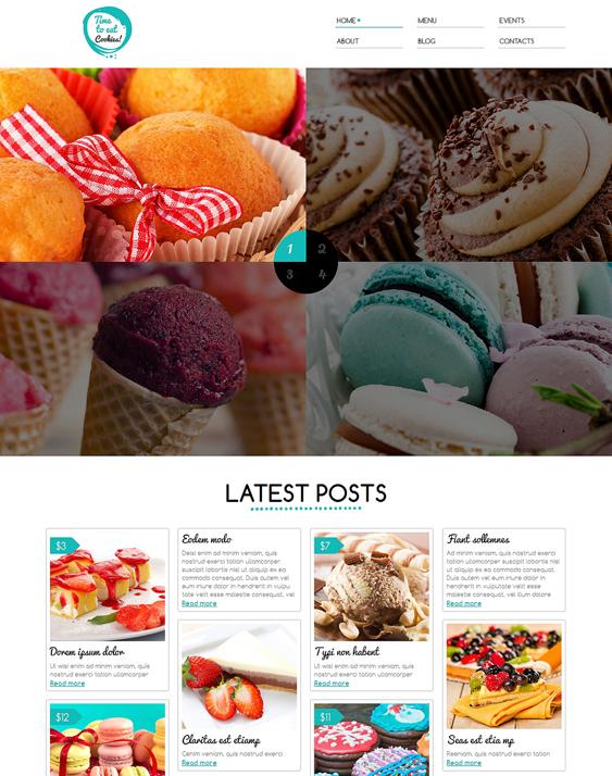 sweet shop restaurant bakeries bars joomla templates