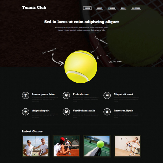 tennis dark wordpress themes