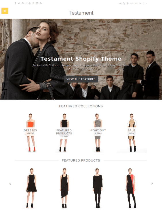 testament exodus shopify themes clothing stores