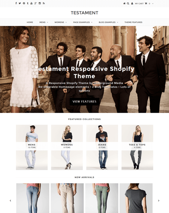testament genesis shopify themes clothing stores