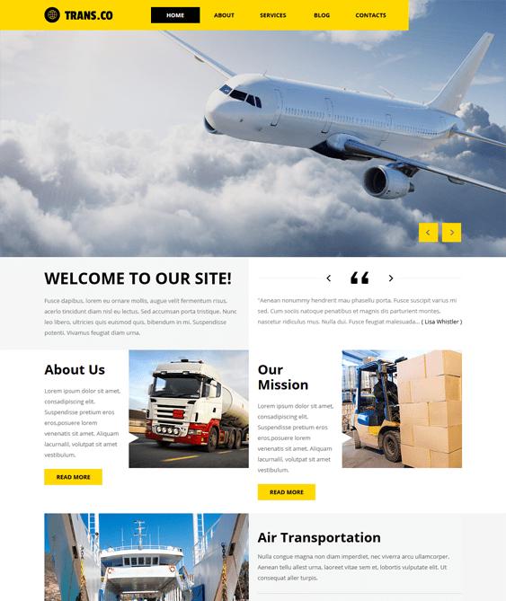 transportation wordpress themes