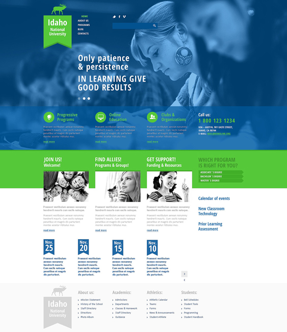 university education joomla templates