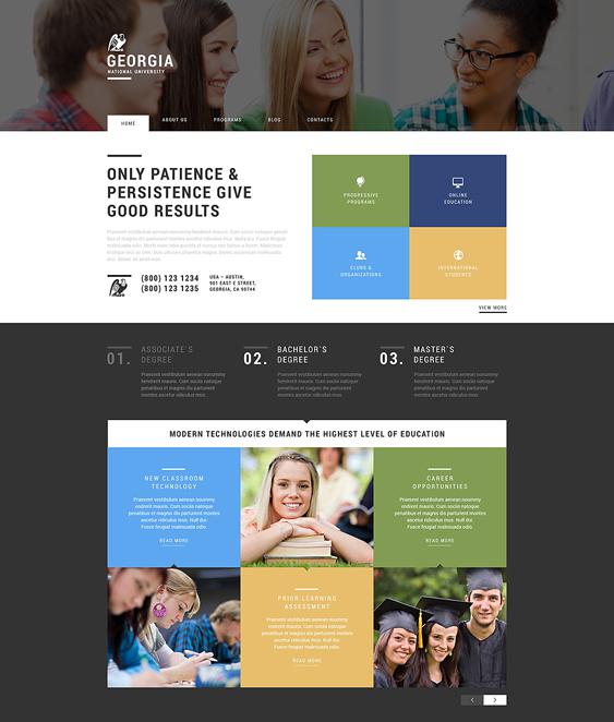 web promotion education wordpress themes