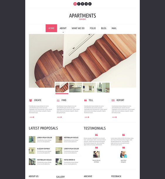 apartments for rent real estate wordpress themes