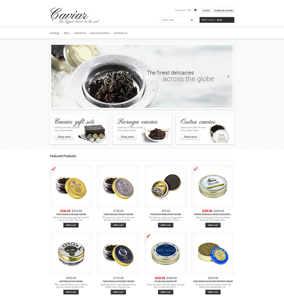 food drink shopify themes store