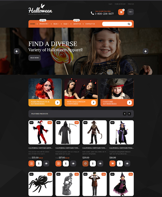 12 of the best dark shopify themes br down halloween costumes shopify theme maxwellsz