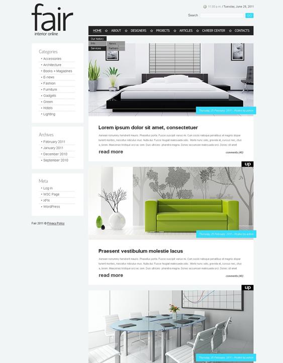 interior design wordpress furniture themes
