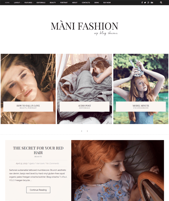 mani fashion blog wordpress themes